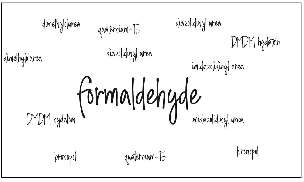 Formaldehyde and it's related names and releasers