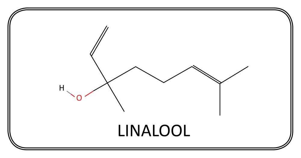 A drawing of the Linalool Hydroperoxide chemical compound structure